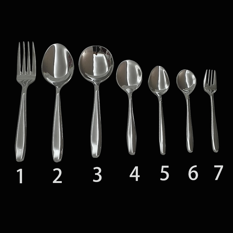 Stainless Steel Metal Type and Metal Material Plastic Handle Flatware