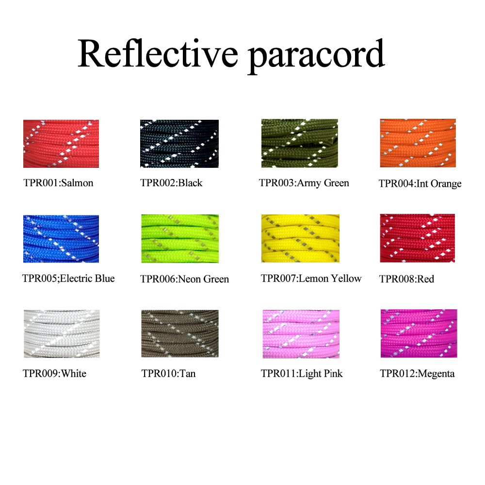 Military 550 paracord fishing line survival tinder marker strand reflective color chart military 550 paracord fishing line survival tinder marker strand tactical 550 paracord for outdoor nvjuhfo Image collections