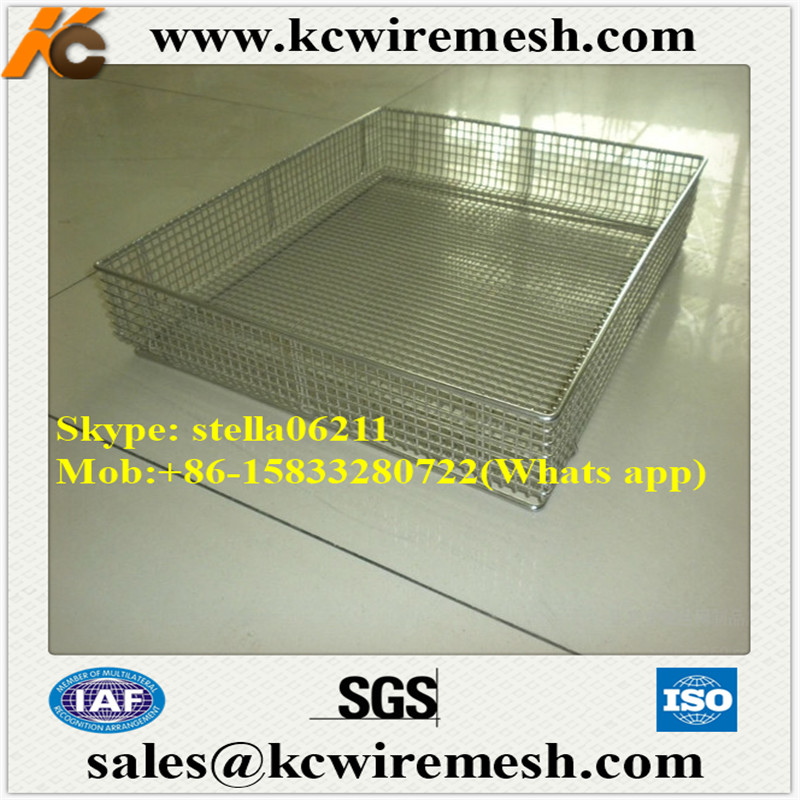 Factory!!!! Cheap!!!! new hospital sanitary equipment stainless steel wire mesh cleaning basket for sterilization