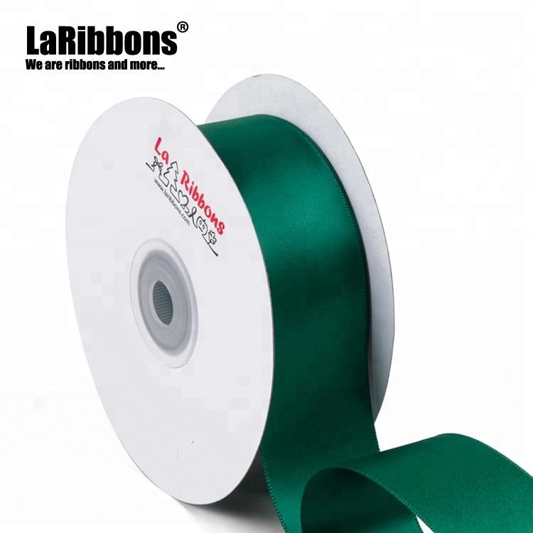 Factory wholesale 100 yards 38mm 100% polyester double face satin ribbon
