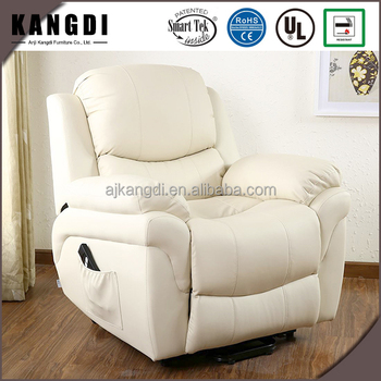 KD LC7085 Modern White Leather Armchair Standing Up Electric Lift Recliner  Chair