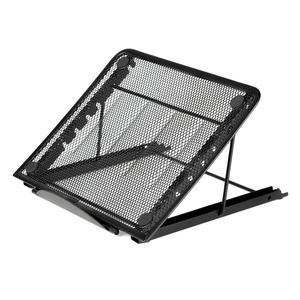 Office home school black foldable metal mesh desk desktop computer laptop stand