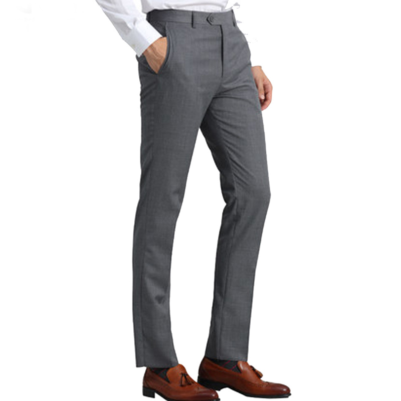 Hellgraue Anzughose Slim Fit Office Business Classic Herren Formelle Hose
