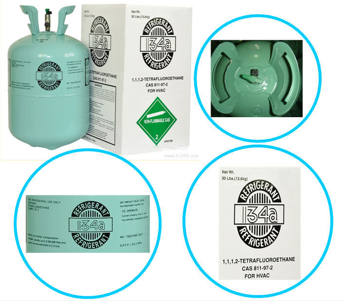 12KG REFILLABLE CYLINDERS REFRIGERANT GAS R134A