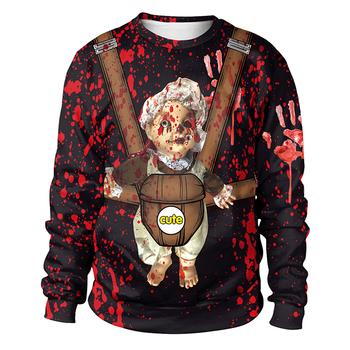 d02bee5f6254 Winter Long Sleeve Halloween Print Women Comfortable Soft Crewneck  Sweatshirt - Buy Crewneck Sweatshirt