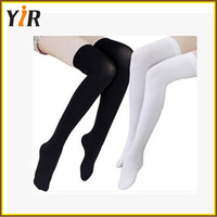 2016 popular solid color unpatterned knee high stockings