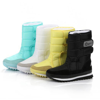Women Waterproof Female Winter Boots Thermal Shoes Boots Warm Solid