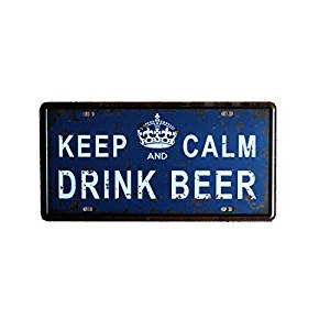 Yours Dec Metal Tin Sign Tin Signs Keep Calm Drink Beer Billboard Size