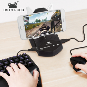 Data Frog BattleDock Keyboard and Mouse USB Converter Gamepad Battle Dock for PUBG/FPS/Fortnite Games Portable Phone Holder