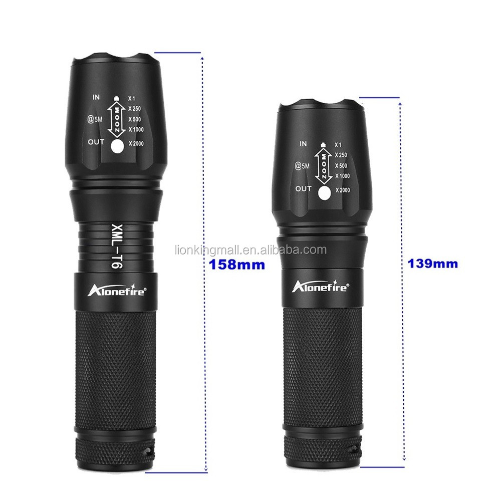 AloneFire E26 led zoomable flashlight XML-T6 3800LM Adjustable Focus Zoom Flash Light linternas torch lanternas