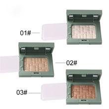 OEM kosmetik Marke Gesicht <span class=keywords><strong>Make-Up</strong></span> Bronzer Highlighter Pulver 3 Farbe highlighter Maquillage muster Kunststoff abdeckung up