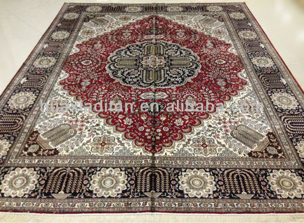 large rugs, hand knotted silk rug in 8*10foot, sourksus turkish carpet