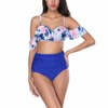 2018 Two Pieces Camouflage Printing Swimwear Bikini Women