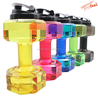 Now product 2.2L Big Plastic tritan Dumbbell Shape joyshakering Sport Shaker Water Bottle