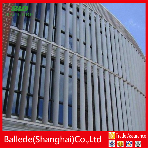 Aluminum Architectural Wall Panels With Aerofoil Blades