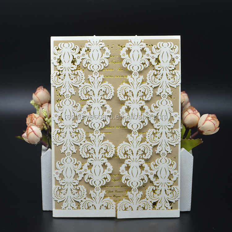 New style english wedding invitation muslim wedding card factory