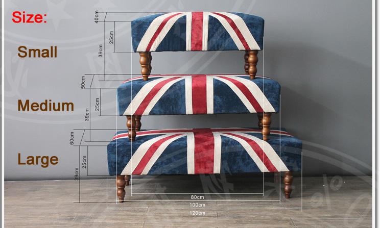 S 1501 2015 New Design Fabric Union Jack Ottoman View