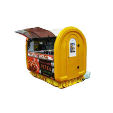 China Mobile Hand Push Food Cart / Food Truck