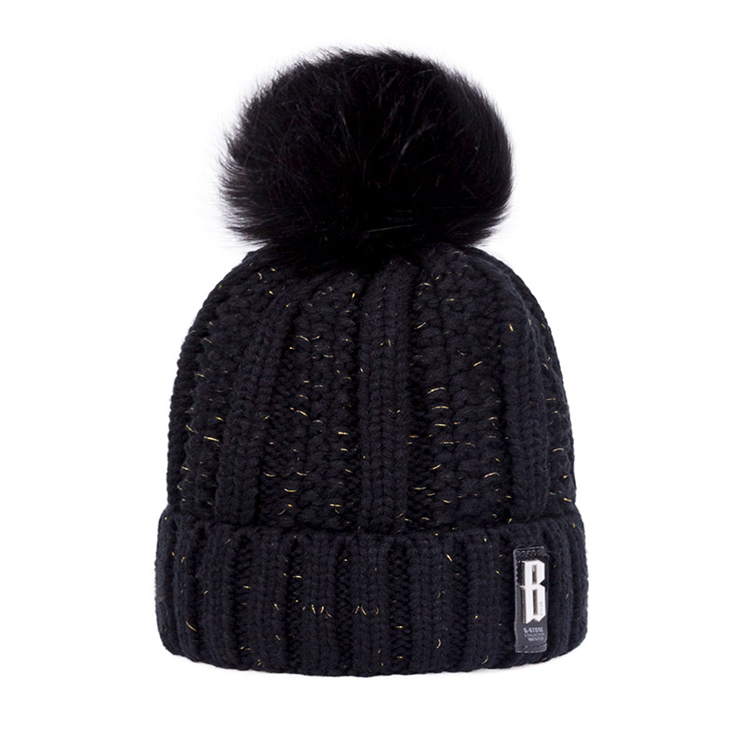 Free Pom Custom Owm Logo Embroidered Baby Knit Winter Hat For Women cc  Beanie Hats 23a3249fc98