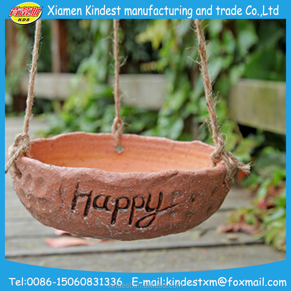 western retro hanging terracotta flower pot, ceramic flower plant for sale