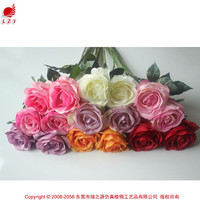 China fabric flowers red rose party decorative rose cheap wholesale artificial flowers