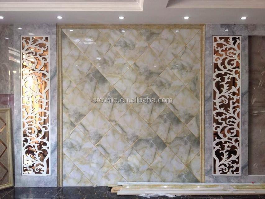 High Gloss Fireproof Uv Coating Decorative Pvc Wall Board