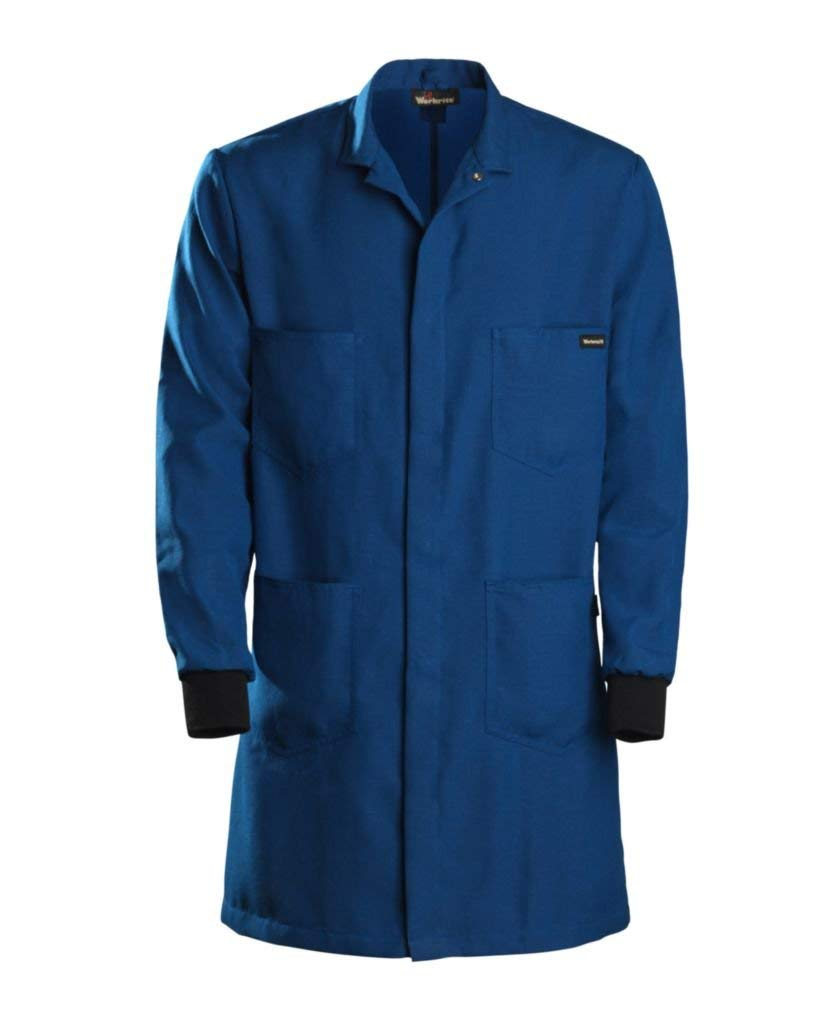 357NX45RBLG0L - Large, Long - Workrite FR Nomex Men's Knit Cuff Flame Resistant Lab Coat - Each