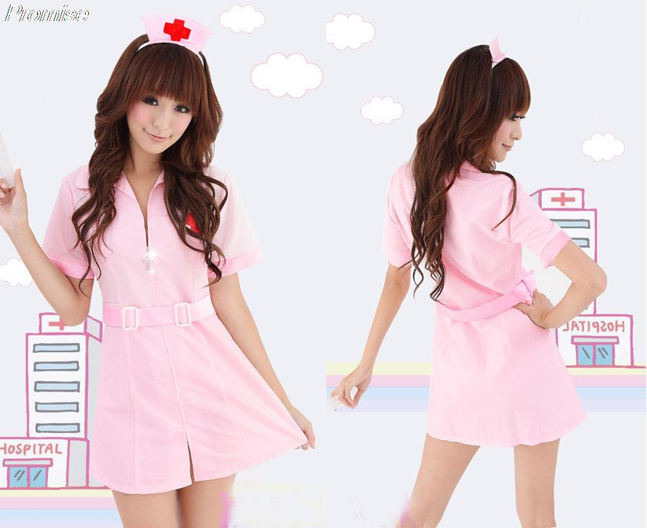 3df5e622a10 Get Quotations · Hot Halloween Costumes for Women Cosplay sexy Nurse  costume role-playing game party girl dress