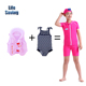 Plus size set infant baby boys toddler full body tech floral inflatable swimsuit swim costume suit for little children kid girl