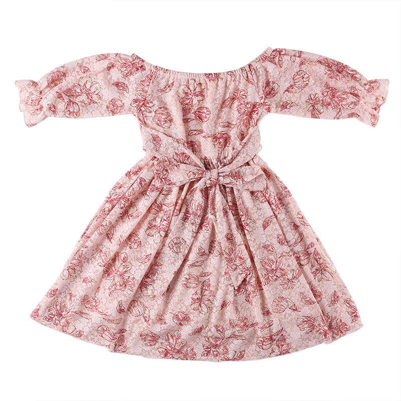 <strong>kids</strong> <strong>fashionable</strong> clothes wholesale children clothing puff sleeve floral print baby girls dress toddler girls lace dress