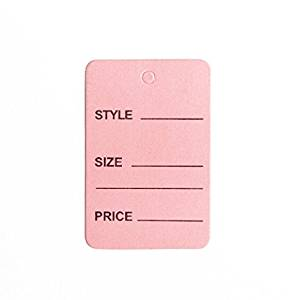 "1000pcs Pink Color One Part Unstrung Perforated Price Coupon Tag Clothing Price Labels/clothing Tag/perforated Price Coupon Tags 1 1/4"" X 1 7/8"""