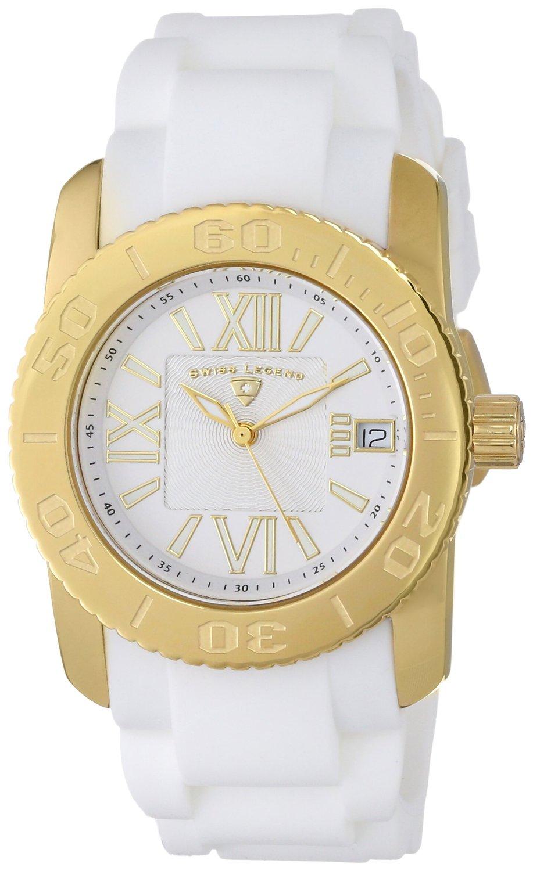 Swiss Legend Women's 10114-YG-02 Commander White/Yellow Gold-Tone Watch