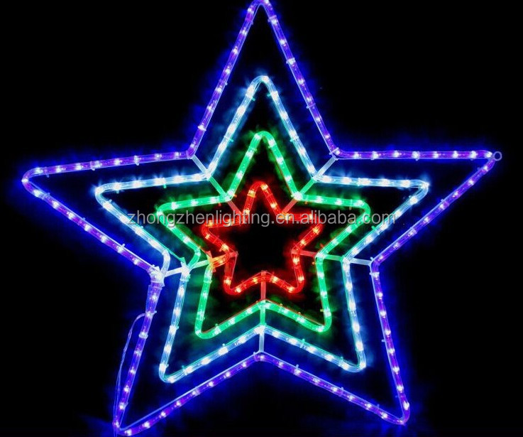 "30"" Blue And White Outdoor Led Rope Light Christmas Star Of ..."