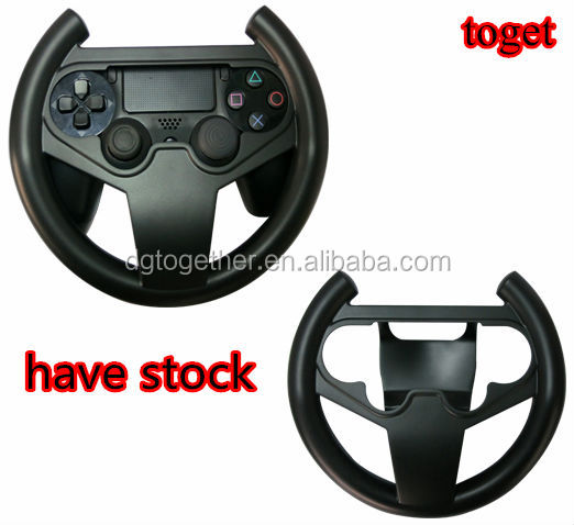 2017 Wholesale Black Racing Game Steering Wheel For PS3 For PS2 For PS4