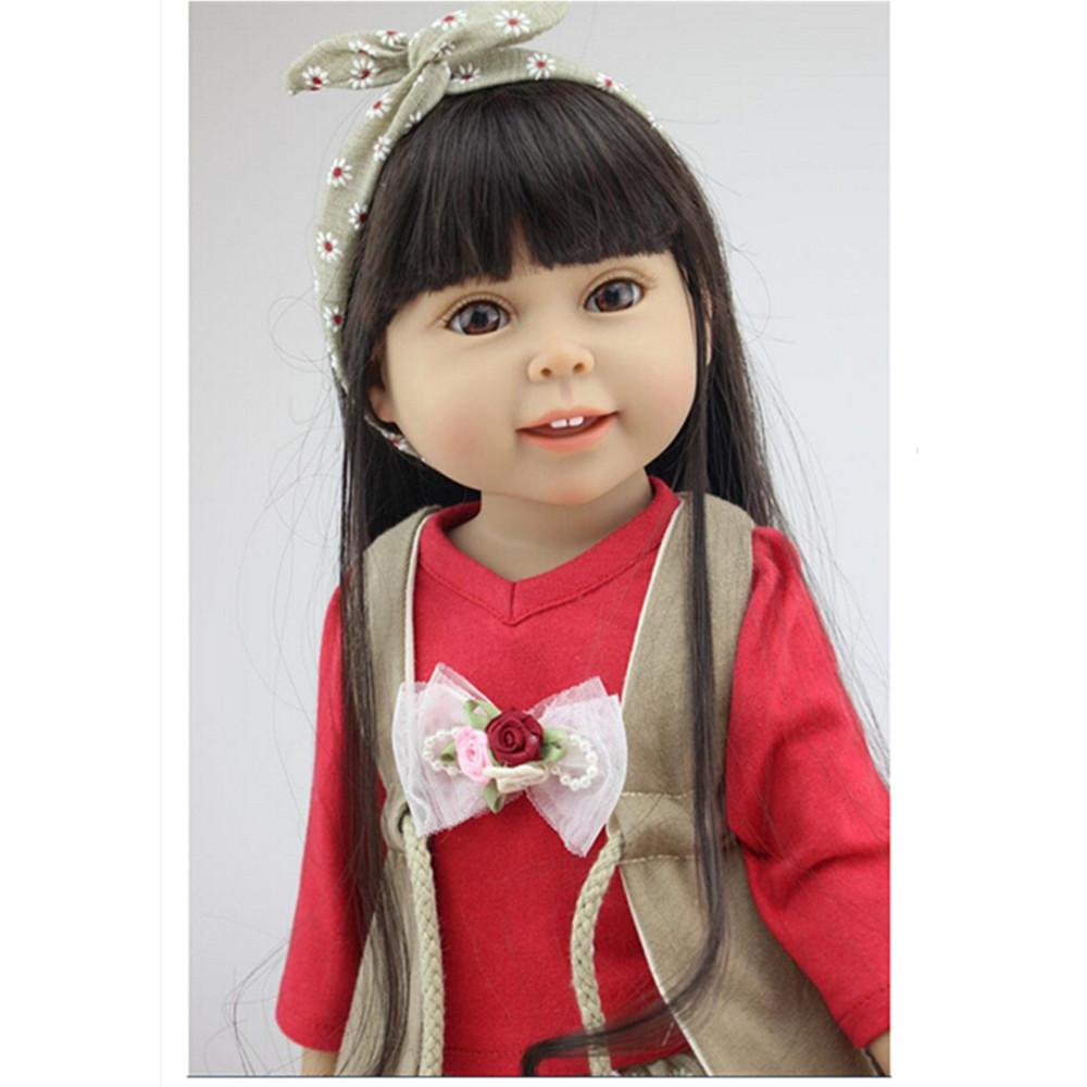 45 cm 18 Inch American Girl Doll Princess Doll Cute Soft Plastic Reborn Dolls Babies Girl