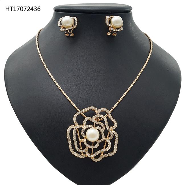 b13129ba1348 Joyería nupcial conjunto de pulsera y aretes de joyería de la boda de  conjuntos de collar
