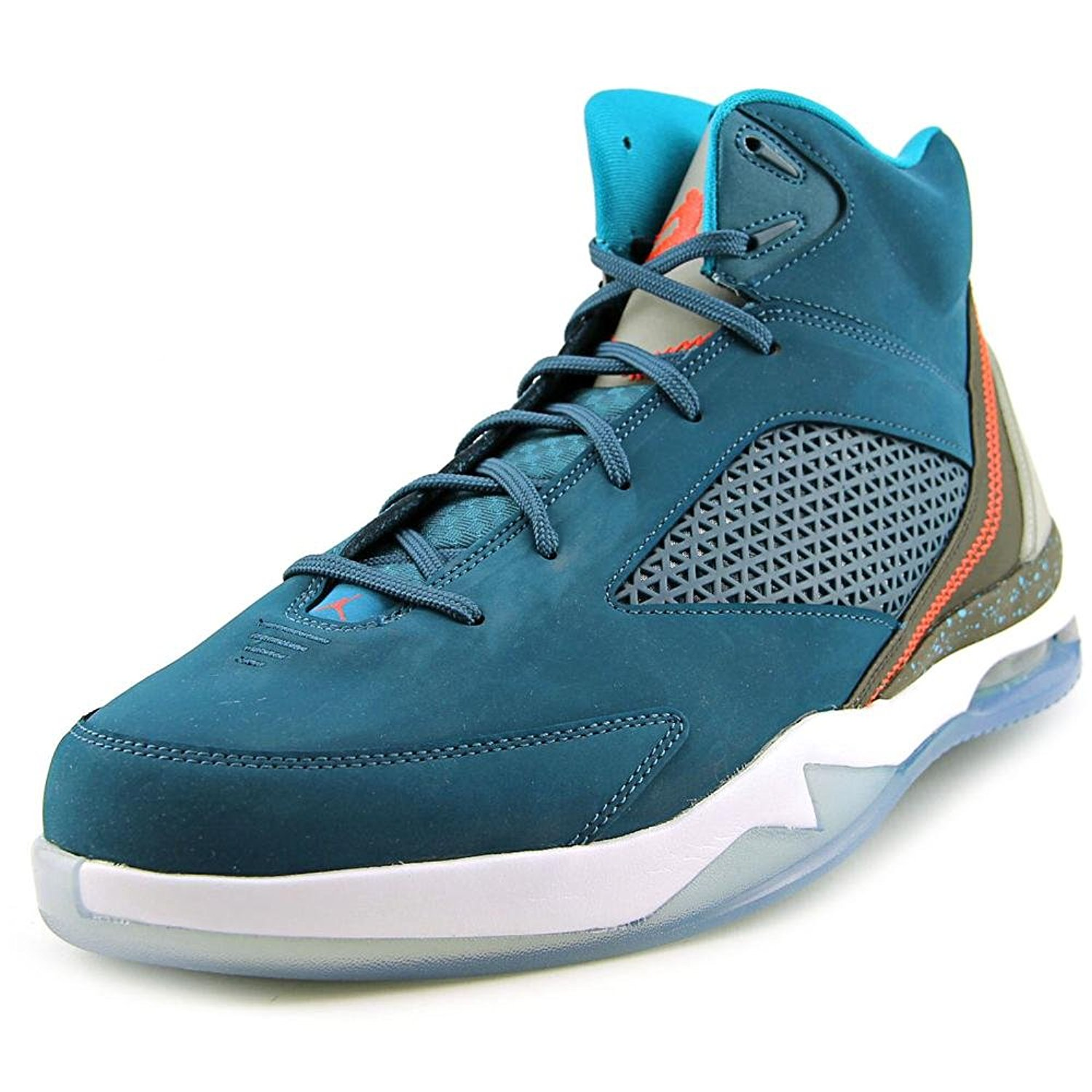 6ca0b91e3ebb4c Get Quotations · Nike Mens Jordan Flight Remix Space Blue Infrared23-Tropical  Teal Leather Size 9.5