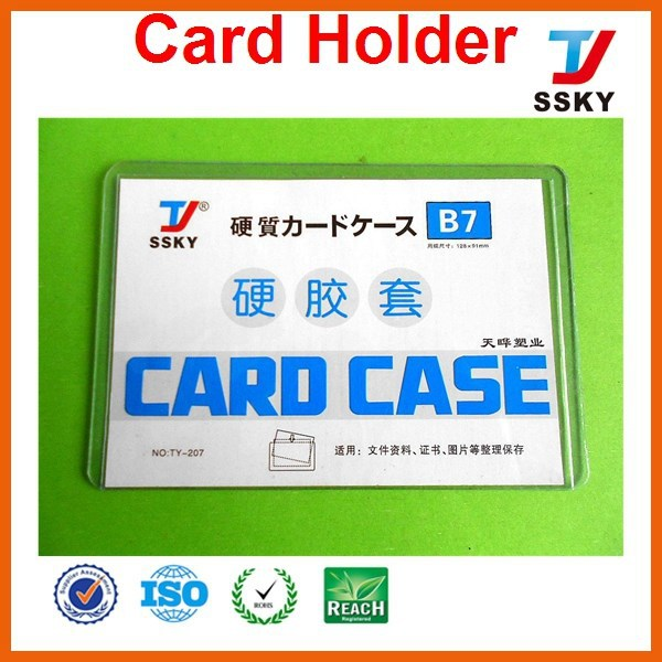 PVC business and credit card case for purse card holder card case for purse