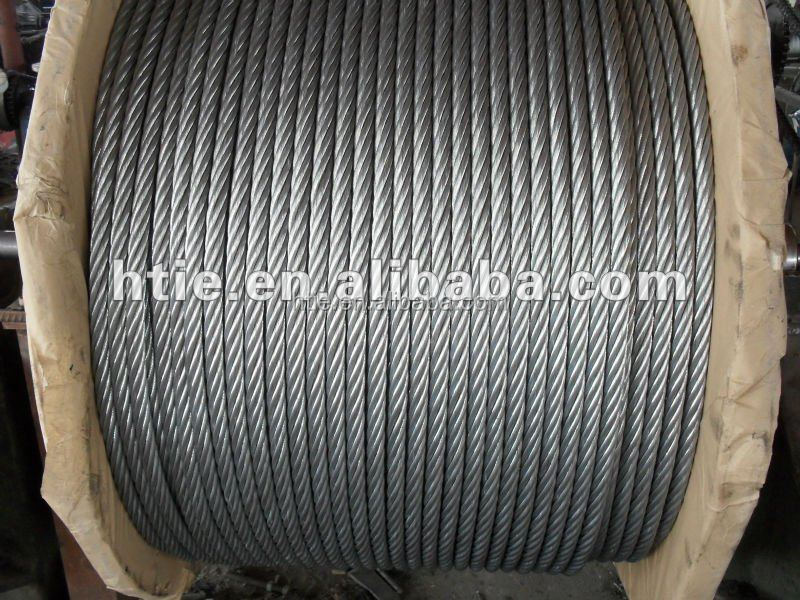 6*7 hot dip galvanize Steel Wire Rope