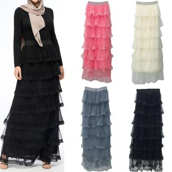 2019 fashion 4 Color Long Muslim Mush Skirts