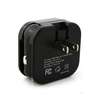 dual USB port 2 in 1 wall and car charger ac/dc switching adapter with CE FCC ROHS approved