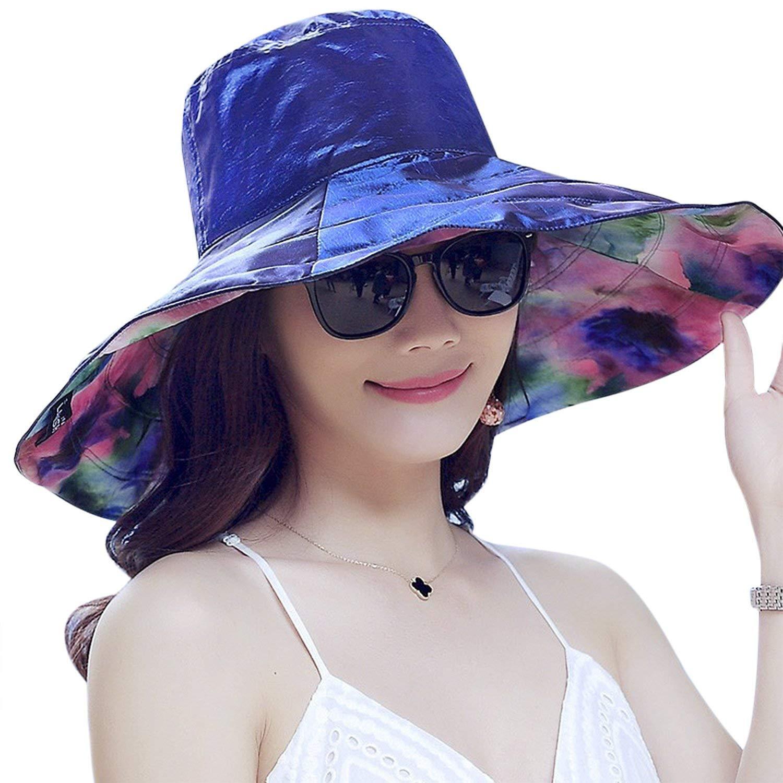 0006a5779e3 JINTN Women Girls Large Brim Floppy Cover Hat UPF 50+Summer Sun Visor Caps  UV