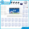 868MHZ GSM Home Alarm System 7 inch screen big wireless burglar alarm with Bulit-in Lithium Battery with Panic Button