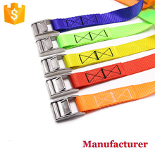 1 inch Stainless steel cam buckle webbing belt lock tie down straps with kinds of colourful webbing