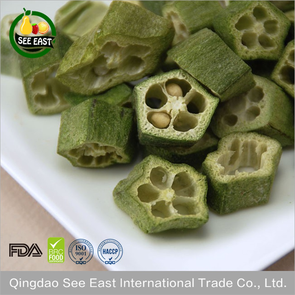 Agricultural New Crop Freeze Dried Okra For Sale