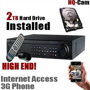 HQ-Cam 32 CH Channel Internet Security Surveillance Camera DVR System with 2TB HDD Pre-installed - Real Time 3G Mobile