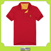 Custom new design red running dry fit sport polo shirts with embroidery