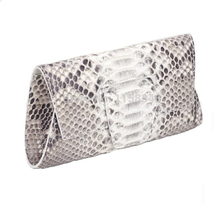 Jranter Fashion Genuine Python Snake Skin Purse Elegant Wedding Clutch Bag