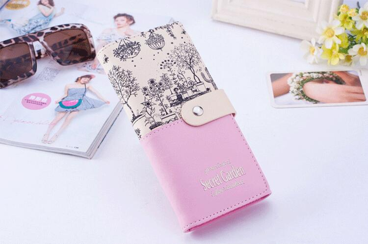 Wholesale student print wallet long lady's purse coin purse  women wallet , ladies purse ,leather ladies wallet China supplier
