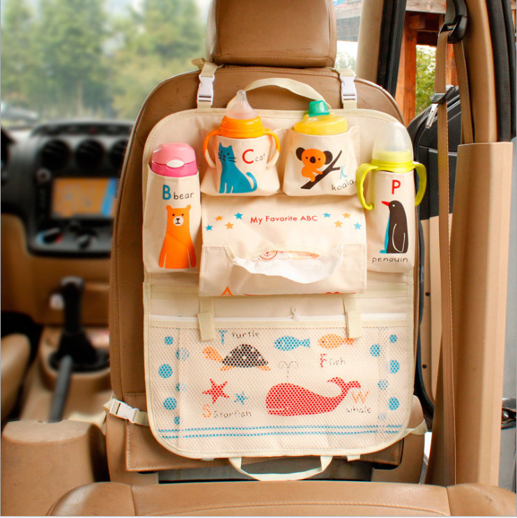 Car Kick Mat Organizer , toy organizer in car for Baby and Kids